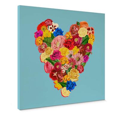 Leinwandbild Feldmann - Heart Floral