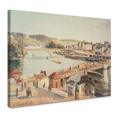 Leinwandbild Pissarro - Ein sonniger Nachmittag in Rouen