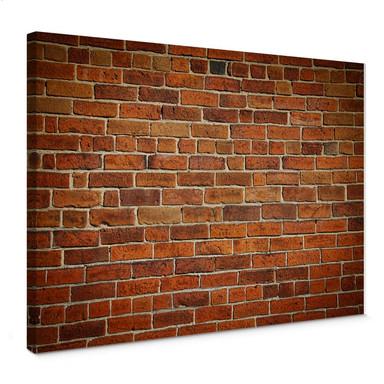 Leinwandbild Ziegelsteinmauer