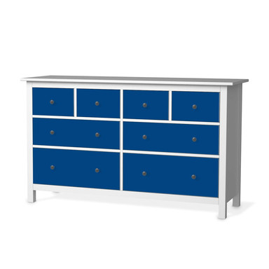 Möbelfolie IKEA Hemnes Kommode 8 Schubladen - Blau Dark