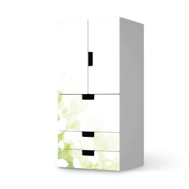 Möbelfolie IKEA Stuva / Malad - 3 Schubladen und 2 kleine Türen - Flower Light