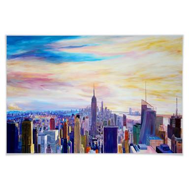 Poster Bleichner - Blick über New York City