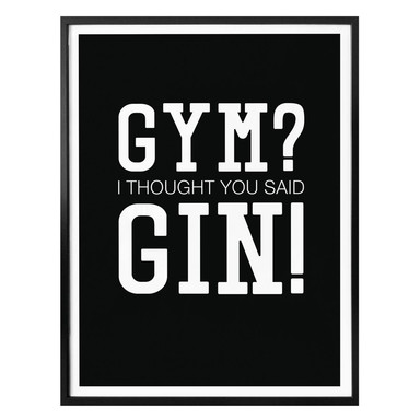 Poster - I tought you said Gin