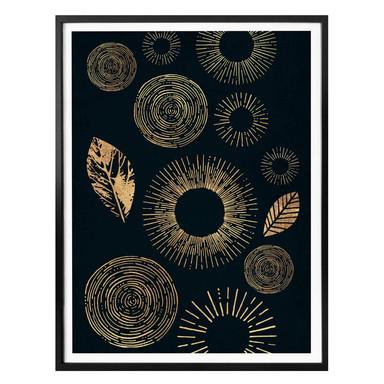 Poster Kubistika - Schimmer in der Dunkelheit