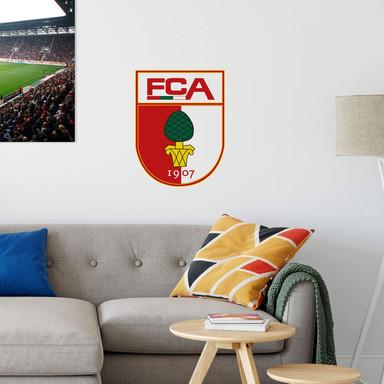 Wandsticker FC Augsburg Logo