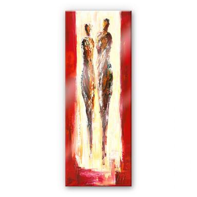 Acrylglasbild Schüssler - Paar in Rot - Panorama