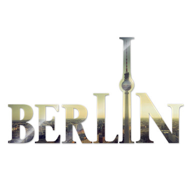 Dekobuchstaben Berlin 01 + 8 Klebepads