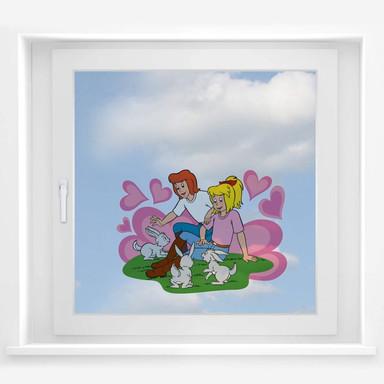 Fensterbild Bibi&Tina Süsse Häschen