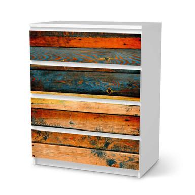 Folie IKEA Malm Kommode 4 Schubladen - Wooden