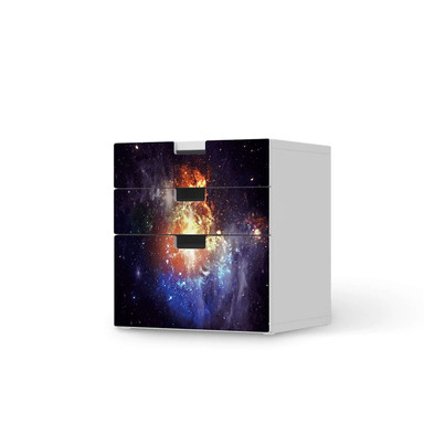 Folie IKEA Stuva / Malad Kommode - 3 Schubladen - Nebula
