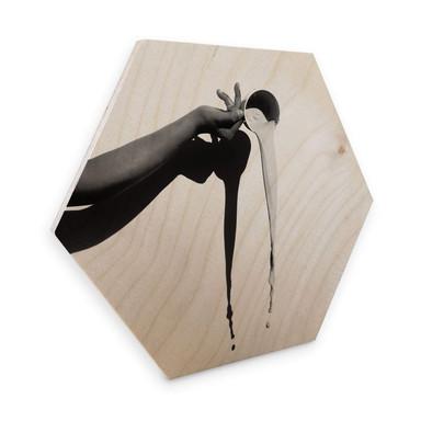 Hexagon - Holz Birke-Furnier - Das Milchglas