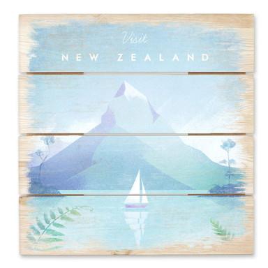 Holzbild Rivers - Neuseeland
