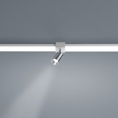 LED Lichtschienen Spot Vigo in nickel-matt 4W 360lm Linienverbinder