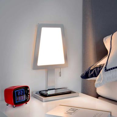 LED Tischleuchte Steve-Phone in Silber 6.7W 603lm