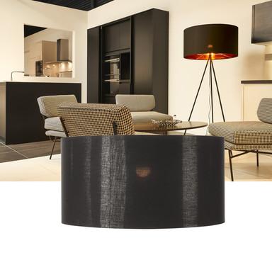 Leuchtenschirm Fenda, rund, 700 mm, schwarz, kupfer
