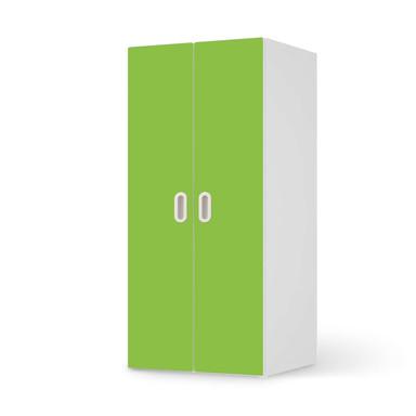 Möbelfolie IKEA Stuva / Fritids Schrank - 2 grosse Türen - Hellgrün Dark