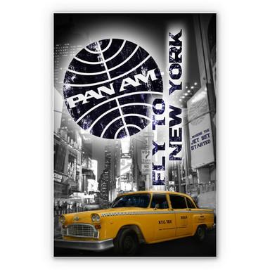 Wandbild PAN AM - New York Yellow Taxi Cab
