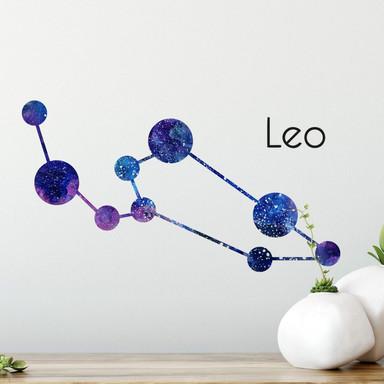 Wandtattoo Sternenbild Leo - Löwe