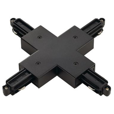 1-Phasen Schienensystem, Aufbauschiene, X-Verbinder, schwarz