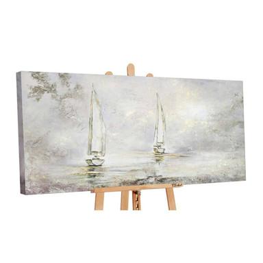 Acryl Gemälde handgemalt Morgendämmerung 140x70cm