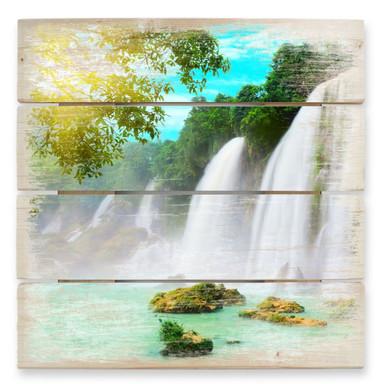 Holzbild Blaue Lagune
