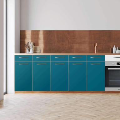 Küchenfolie - Unterschrank 200cm Breite - Türkisgrün Dark
