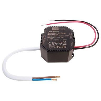 LED Schaltnetzteil Mini in Schwarz 24V 12W IP65