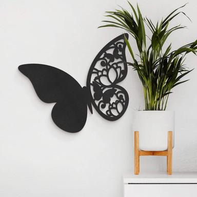 MDF - Holzdeko - Schmetterling Floral