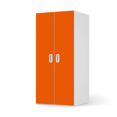 Möbelfolie IKEA Stuva / Fritids Schrank - 2 grosse Türen - Orange Dark