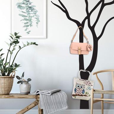 Wandtattoo Blattloser Baum & 3 Wandhaken