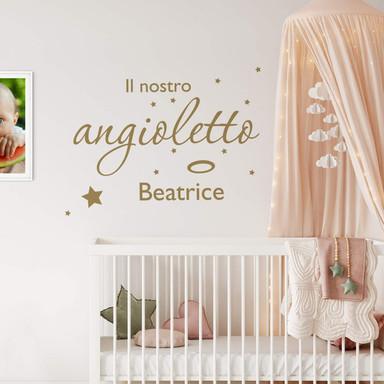Wandtattoo & Name Il nostro angioletto