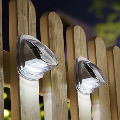 2er Pack Solar LED Wandleuchte Sintra in Transparent