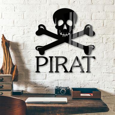 Acrylbuchstaben Pirat