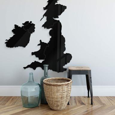 Acryldeko Karte Vereinigtes Königreich