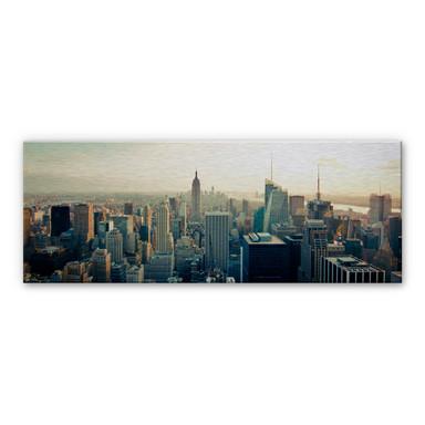 Alu-Dibond Bild Skyline von New York City - Panorama
