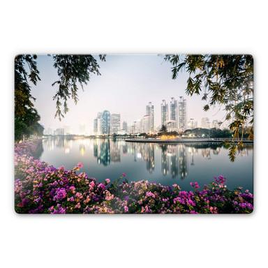 Glasbild Colombo - Bangkok und seine Lichter