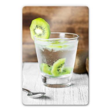 Glasbild Frische Kiwi