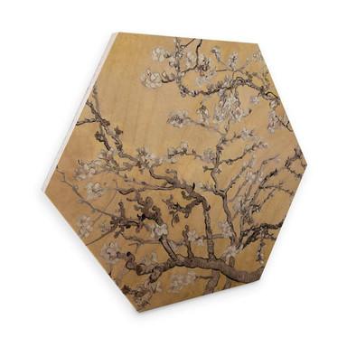 Hexagon - Holz van Gogh - Mandelblüte Creme