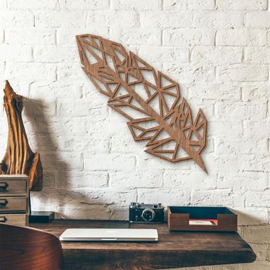 Holzdeko Mahagoni - Origami Feder - Bild 1