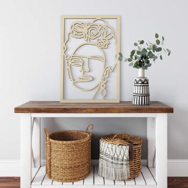 Holzdeko Pappel Hariri - Frida Kahlo