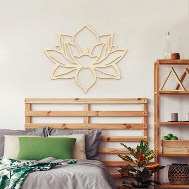 Holzdeko Pappel Lotusblume