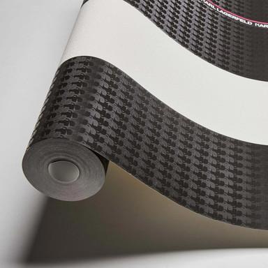 Karl Lagerfeld Wallpaper Vliestapete Ribbon schwarz, lila, weiss