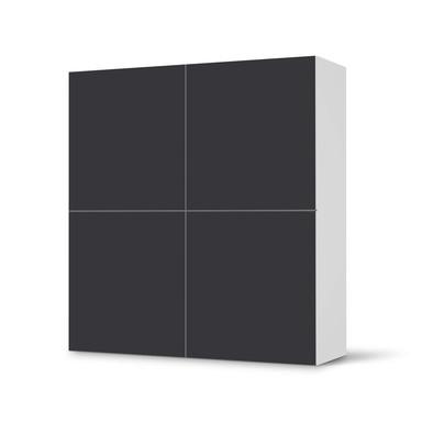 Klebefolie IKEA Besta Schrank 4 Türen - Grau Dark- Bild 1