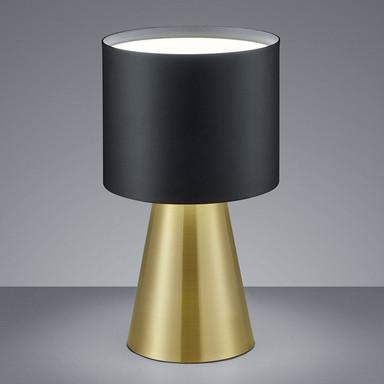 LED Tischleuchte Bito in schwarz, messing-matt 14W 1040lm dimmbar