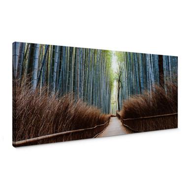 Leinwandbild Colombo - Die Bambushöhle in Japan - Panorama