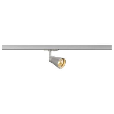 Leuchtenspot Avo für 1-Phasen-Stromschiene, schwenk- und drehbar, GU10. silber