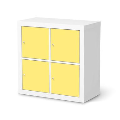 Möbelfolie IKEA Expedit Regal 4 Türen - Gelb Light