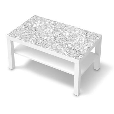 Möbelfolie IKEA Lack Tisch 90x55cm - Flower Lines 2