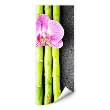 Wallprint Orchid and Bamboo - Panorama (vertikal)