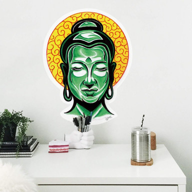 Wandsticker Miami Ink Buddha Kopf